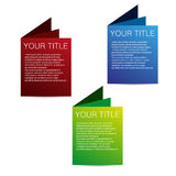 Vector three color tags Stock Photo