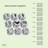 Vector three-dimensional business infographics. Stock Image