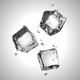 Vector. Three ice cubes. EPS10. Three ice cubes in black and white. Vector illustration. EPS10 Royalty Free Stock Photo