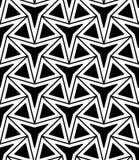 Vector Three-Point- Stern des modernen nahtlosen Geometriemusters, Schwarzweiss-Zusammenfassung Lizenzfreies Stockbild