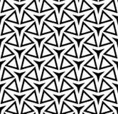 Vector Three-Point- Stern des modernen nahtlosen Geometriemusters, Schwarzweiss-Zusammenfassung Stockbild