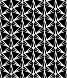 Vector Three-Point- Stern des modernen nahtlosen Geometriemusters, Schwarzweiss-Zusammenfassung Stockfotografie