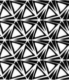 Vector Three-Point- Stern des modernen nahtlosen Geometriemusters, Schwarzweiss-Zusammenfassung Stockfoto