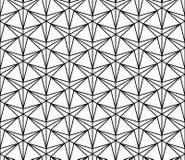Vector Three-Point- Stern des modernen nahtlosen Geometriemusters, Schwarzweiss-Zusammenfassung Stockfotos