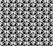 Vector Three-Point- Stern des modernen nahtlosen Geometriemusters, Schwarzweiss-Zusammenfassung Lizenzfreie Stockfotos