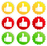 Vector Thumb Up Stickers Stock Photo