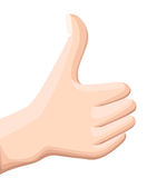 Vector thumbs up icon. Flat thumbs up icon. Flat design  illustration for web banner, web and mobile, infographics. Realisti. C thumbs up icon graphic. Vector Stock Images