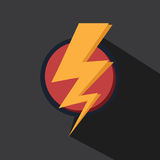 Vector of thunder lighting icon Royalty Free Stock Photos