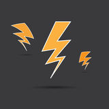 Vector of thunder lighting Royalty Free Stock Photography