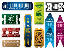 Vector ticket set Royalty Free Stock Photos