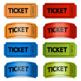 Vector tickets Royalty Free Stock Photography
