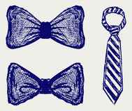 Vector tie. Doodle style. Vector sketch Royalty Free Stock Image
