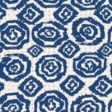 Vector tie dye seamless pattern. Hand drawn shibori print. Ink textured japanese background. Modern batic wallpaper tile. Watercolor indigo endless backdrop vector illustration