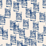 Vector tie dye seamless pattern. Hand drawn shibori print. Ink textured japanese background. Modern batic wallpaper tile. Watercolor indigo endless backdrop Stock Photography