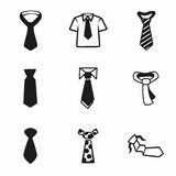 Vector tie icon set. On white background Royalty Free Stock Photos