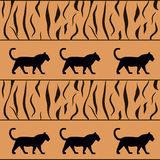 tiger background with silhouette vector illustration