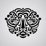 Vector tiger face tattoo sketch Royalty Free Stock Photos