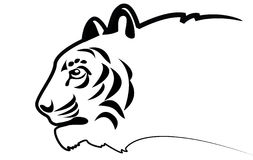 Vector tiger.Silhouette. Black silhouette of tiger.Symbol Royalty Free Stock Image