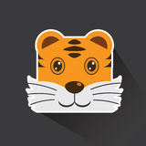 Vector of Tiger in sticker style Stock Photography