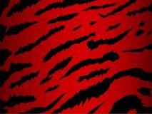 Vector tijger in rood Stock Afbeeldingen