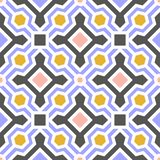 Vector Tile Seamless Pattern with Geometric Ornaments. National Traditional Ceramic design. Texture for Wallpaper