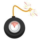 Vector time bomb Stock Image