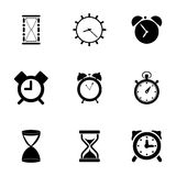 Vector time icons set Royalty Free Stock Photography