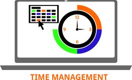 Vector - time management Royalty Free Stock Photos