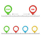 Vector timeline illustration Stock Images
