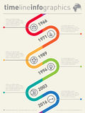 Vector timeline infographic. Business graphic elements. Design t Royalty Free Stock Photography