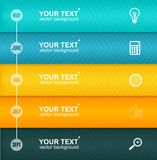 Vector Timeline Infographic. Colorful Template Royalty Free Stock Images
