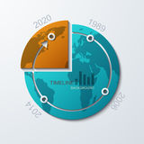 Vector timeline infographic element design Royalty Free Stock Image