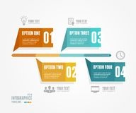 Vector Timeline Infographic. Retro style. Stock Images