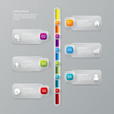 Vector timeline process report company infographics template Stock Photos