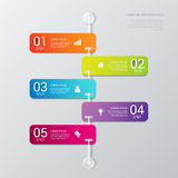 Vector timeline process steps labels template background Stock Photos
