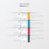 Vector timeline report design template yellow, blue, pink color. Vectors design eps10 royalty free illustration