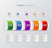 Vector timeline steps infographics template background