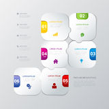Vector timeline steps labels infographics background template Stock Image