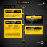 Vector timeline in techno style. Stock Images