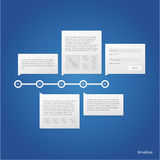 Vector timeline template. Royalty Free Stock Images