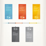 Vector timeline template. Multicolour glossy template. Stock Images
