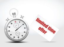 Vector timer. concept fast shipping Stock Photography