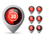 Vector timer icon Stock Image