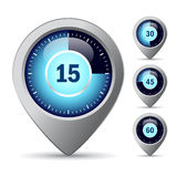 Vector timer icon. S set on white background Royalty Free Stock Images