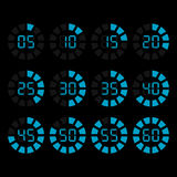 Vector timer icons set Stock Photos