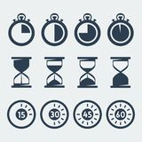 Vector timers icons set Stock Photos