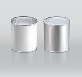 Vector tin cans. Realistic. (Element for design) Royalty Free Stock Photos