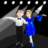Vector Tiny Dancers On The Stage Stock Images