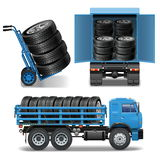 Vector Tire Delivery Icons Stock Photography
