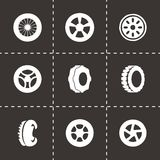 Vector tire icon set Royalty Free Stock Photos